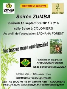 Soirée zumba, zumbathon colomiers 31 sadhana forest