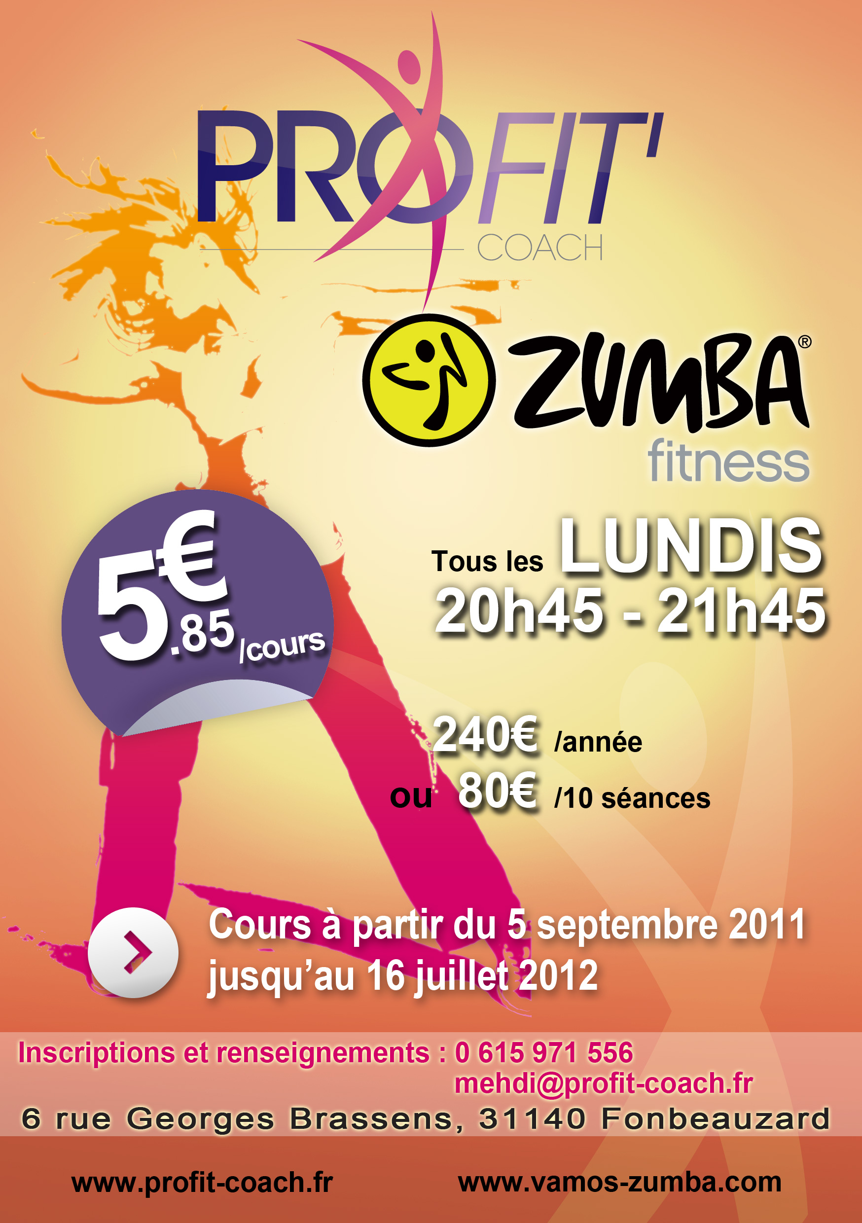 stages zumba profit fonbeauzard toulouse